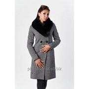 Женское пальто с натуральным мехом, модель 112 фото