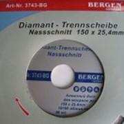Диск алмазный Bergen мокрый рез 150х25,4мм фото