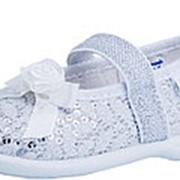 131112-11 серебряный туфли ясельно-малодетские текстиль Р-р 23 фото