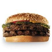 Доставка еды - Двойной Гамбургер фото
