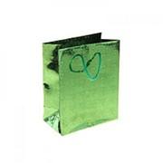 Пакет голографический МИКС зеленый 11см х 15см фото