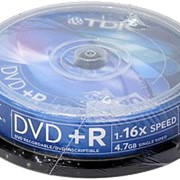 DVD+R диск TDK 4,7Gb 16x 10шт CakeBox