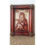 Икона деревянная резная Владимирской Божией Матери фото