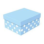 "Коробка подарочная ""Воздушно-голубая"", прямоугольная, 230х190х130 мм, 4831 фото"