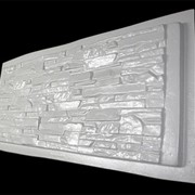 Форма для забора № 6 Скалистая гора из АВС пластика фото
