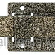 Задвижка накладная ЗД-02для дверей усилен, порошковое покрытие, цвет бронза, плоский засов 30х135х7мм, 75х115 Код:37778-2 фото