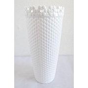 Ваза Дюна керамика выс 20 см диам 7 см кремовая фото