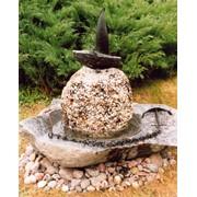 Мобильный садовий фонтан фото