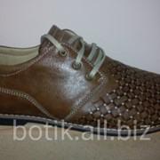 Туфли летние мужские, натуральная кожа. Модель 6741219-80. Цена 785 грн. фото