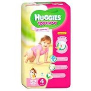 Трусики Huggies девочки 4 (9-14 кг), 52 шт фото