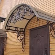 Навесы и козырьки балконные из металла фото