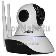 Цветная IP видеокамера купольная с Wi-Fi поворотная PTZ камера Konlen KL-IP500S фото