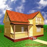 Дом из бруса ДБ-11 7x10 фото