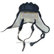 Шлем танковый зимний натуральный мех фото
