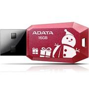 Флешка 16Гб USB 2.0 - ADATA - UV100 New Year Edition, красная, новогодняя фото