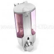 Дозатор для жидкого мыла 380мл прозрачный+серебристый, с ключом фото