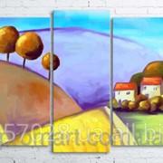Модульна картина на полотні Кольоровий пейзаж код КМ100200(176)-028 фото