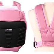 Рюкзак-кенгуру Womar №10 Exclusive розовый с черным фото