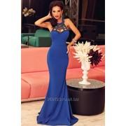Платье в пол синее вечернее фото