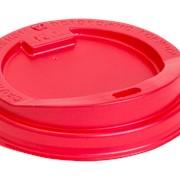Крышка PS с питейником для горячих напитков Красная 90 мм фото