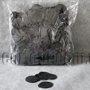 Фетровые заготовки-круги черные 0,5мм/4 см 1000 шт 0056 фото
