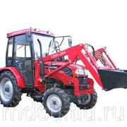Трактор Foton TE 254 с фронтальным погрузчиком и щеткой фото