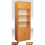 Купить книжный шкаф с 2 ящиками 802*403*1186 мм без антресоли, Код: 0640 фото