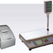 Электронные весы с печатью этикеток - торговые электронные весы с переносным термопринтером UNS-BP1.2 фото
