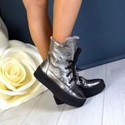 Женские зимние кожаные ботинки на шнуровке в расцветках. ДС-11-1118 фото