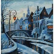 Картина Зимний Амстердам фото
