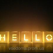 Набор Светокубиков Hello 5 шт фото