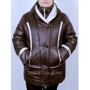 Куртка зимняя комбинированая - КОНТРАСТ (ШОКОЛАД). M-301-Z#15 фото