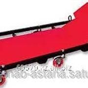 Лежак ремонтный на 6-ти колесах, 1030 х 440 х 120 мм, поднимающийся подголовник фото