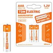 Аккумулятор AAA-1100 mAh Ni-MH BP-2 TDM фото