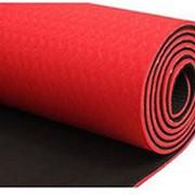 Коврик для йоги двухслойный GLT Fitness TPE фото
