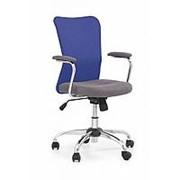 Кресло компьютерное Halmar ANDY (серо-синий) фото