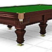 Бильярдный стол для русского бильярда Hardy 12ф (черный орех) фото