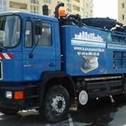 Прочистка, промывка канализации. Устранение засоров. фото