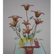 Стеклянная фантазия цветы луговые золотистые фото