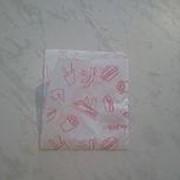 Бумажный белый пакет 170х170 с 2 открытыми краями и фоновая запечаткой фото