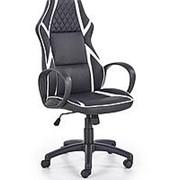 Кресло компьютерное Halmar DODGER (черный/белый) фото