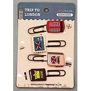 """Набор закладок- скрепок """"Лондон"""", 4 шт., ЗК-6314 фото"""