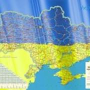 Настенная карта Украины фото