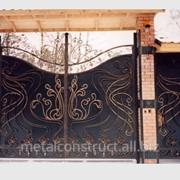 Кованные ворота для дома №49 фото