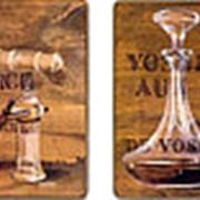 Картины-панно Бокалы/Натюрморт (комплект из 2-х шт.) 34х28см. арт.BL0 фото