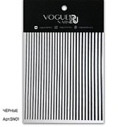 Vogue Nails, Силиконовые полоски, черные фото
