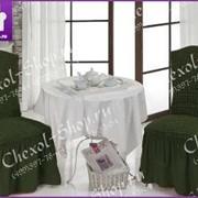 Чехлы для стульев с юбкой (6 шт/уп) | темно зеленый фото