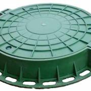 Люк ПЛ легкий (полимер, 60 см., с замком) фото