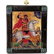 Mt. Athos Георгий Победоносец, святой великомученик, греческая икона Высота иконы 26 см фото