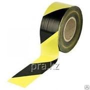 Лента оградительная 250 м желтый с черным фото